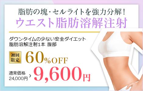 脂肪の塊・セルライトを強力分解! ウエスト脂肪溶解注射